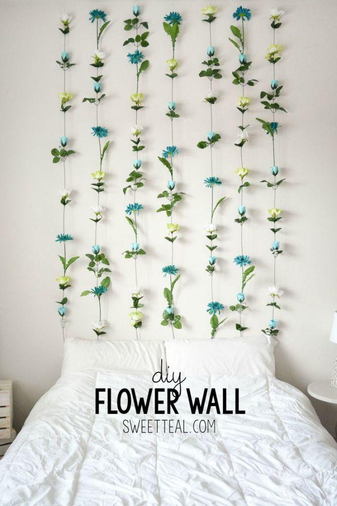 Diy Flower Wall Headboard Tutorial Fl Room Decorbedroom