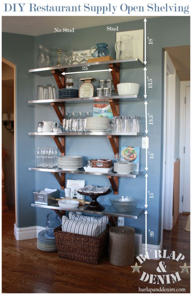 DIY Open Shelving in the Kitchen Kitchen & Dining