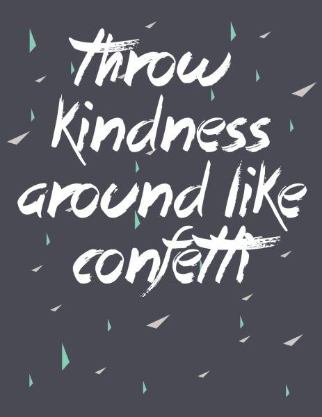 Throw Kindness Around Like Confetti :: Free Printable :: Friday's Fab Freebie :: Week 21 - brepurposed #freeprintable