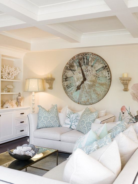 Corona del Mar #Beach Home Tour. Whites and soft blues. More Coastal Houses Tours: www.completely-co…