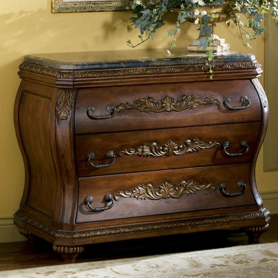 Chateau Frontenac Bombe Chest By Ashley Furniture T633 40 Furniture XO Home Decor