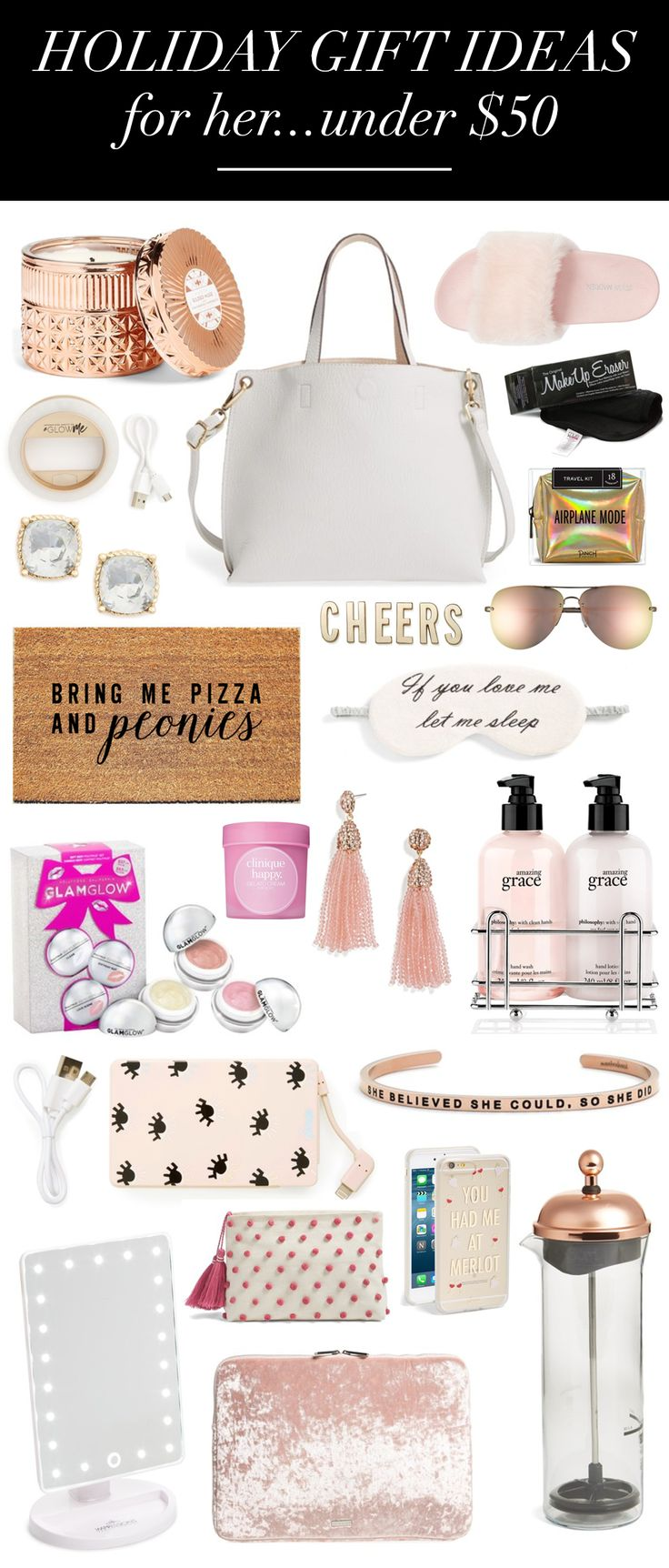 Gifts For Her Under 50 Christmas gift ideas, For her