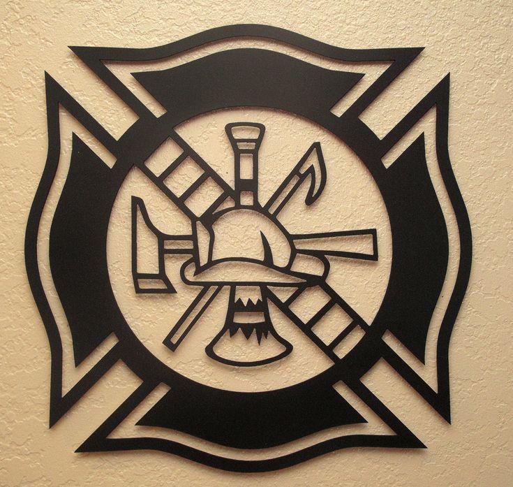 Fireman's Maltese Cross Metal Art Pinterest Logos
