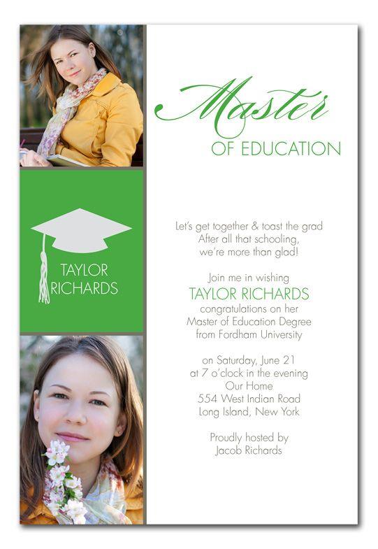 Masters Graduation Card