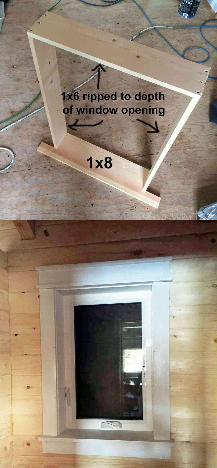 Ana White Build a Farmhouse Style Window Trim from Pine