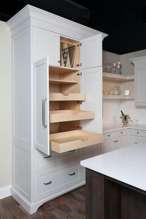 Furniture-style pantry.