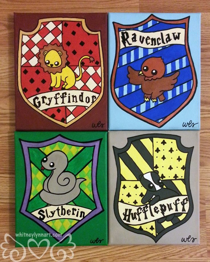 Harry Potter Hufflepuff House Crest by whitneylynnart on