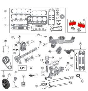 Chrysler v8 52 (318) 59 (360) Engines   9904 Grand
