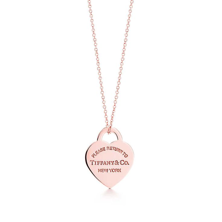 Tiffany  Co. –  Return to Tiffany™ heart tag pendant in RUBEDO™ metal, small.