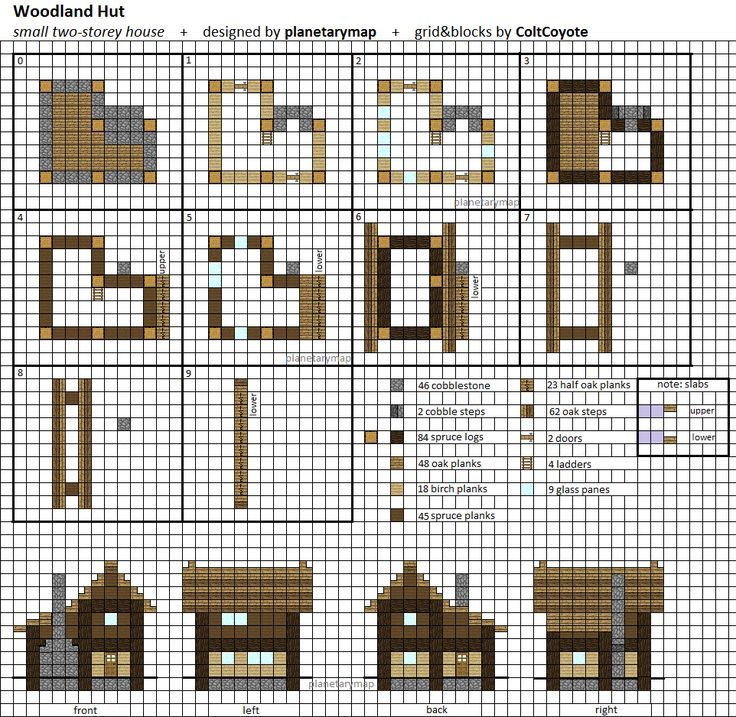 Woodland Hut Small Minecraft House Blueprint by