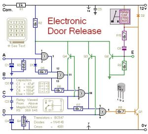 #Circuit Diagram For A KeypadOperated DoorRelease Switch