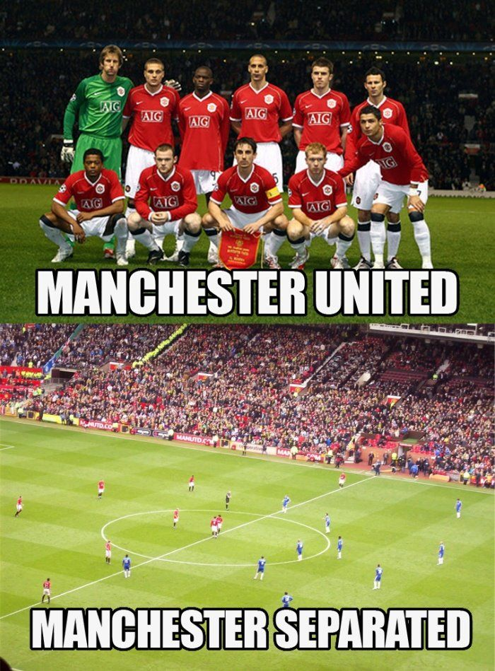 Manchester United / Manchester separated Soccer puns