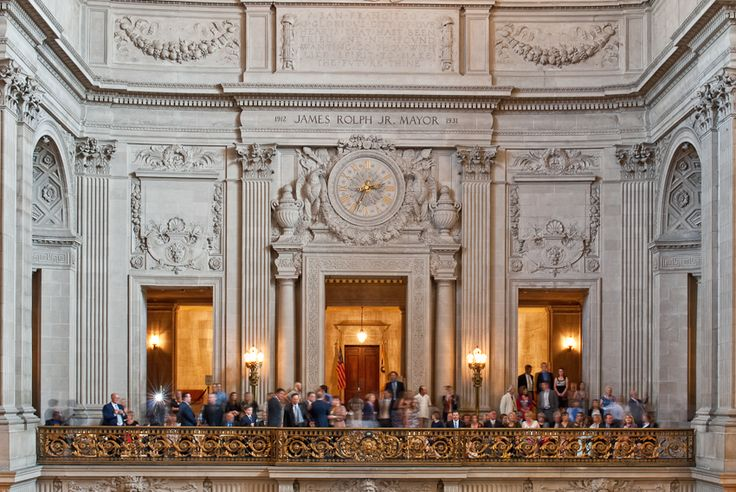 San Francisco City Hall Wedding Cocktail Hour On Mayors