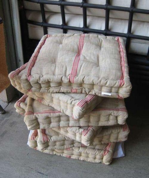 French Mattress Cushions Mattress Tufted Ticking Stripe