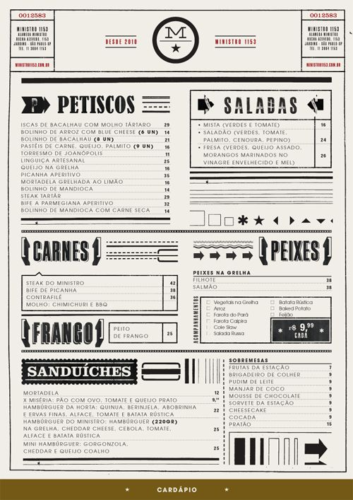 fun menu