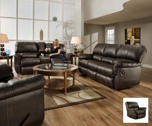BEST DEAL SIMMONS 50365 BLACKJACK BROWN LEATHER THEATER
