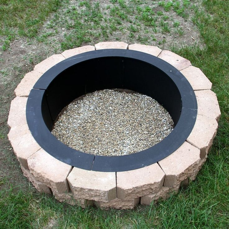 MAKE YOUR OWN STEEL FIRE PIT RIM IN GROUND LINER BUILD