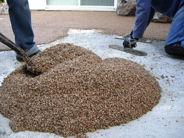 Laying a Pebble Patio  Give