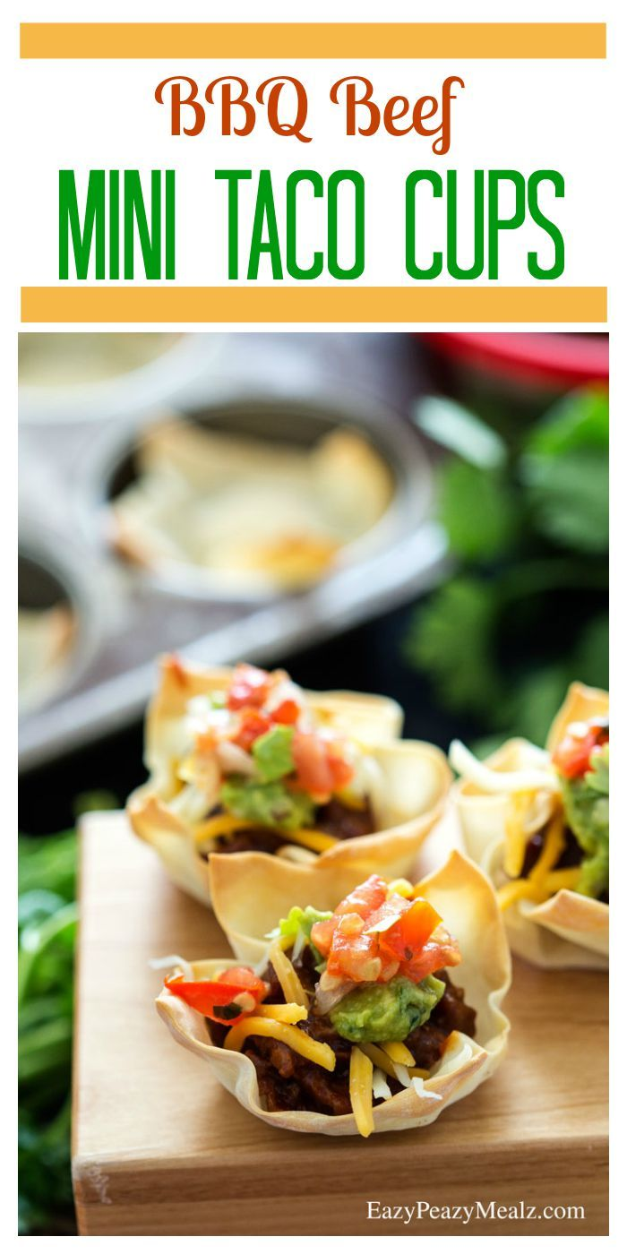 BBQ Beef Mini Taco Cups Recipe Tacos, The box and