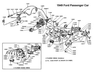 Wiring diagram for 1949 Ford | Wiring | Pinterest | Ford