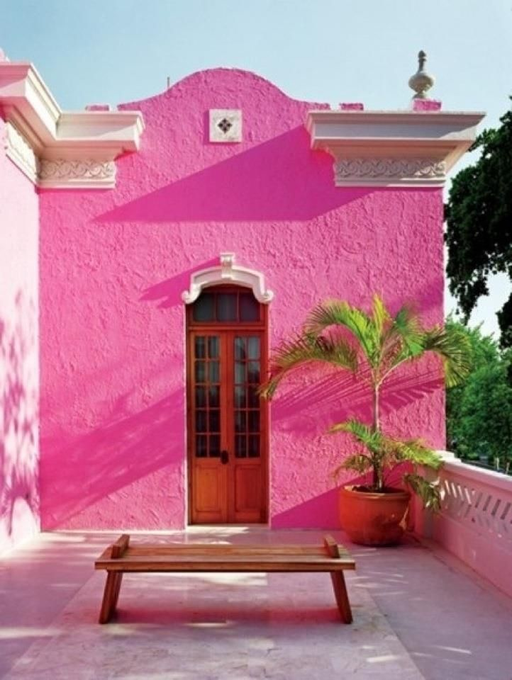 Brightly Painted Stucco House In Mexico Gorgeous Stucco