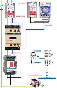 Esquemas eléctricos: Esquema de motor monofasico con guardamotor y relo | Esquemas eléctricos