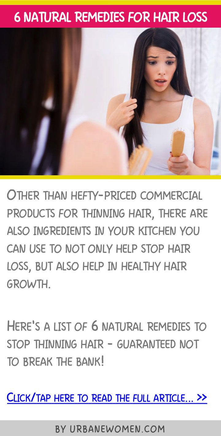 6 Natural Remedies For Hair Loss Natural, Remedies for