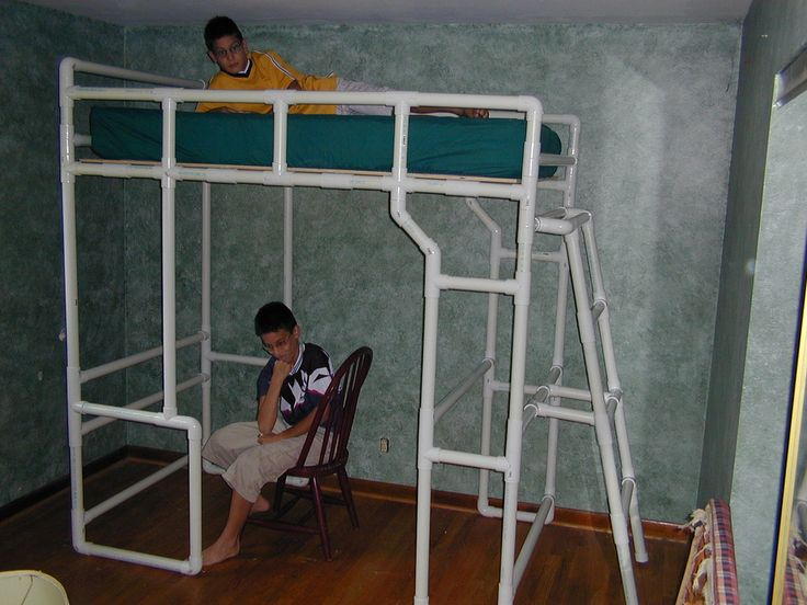 Pvc Is Amazingly Strong I Built Two Loft Beds From Pvc