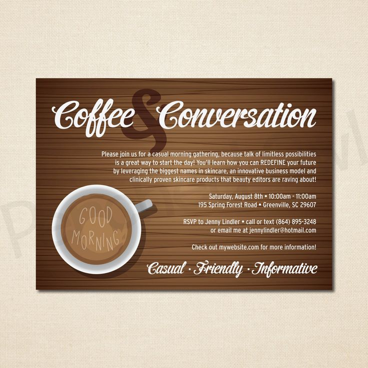 Coffee And Conversation Invitation Direct Selling