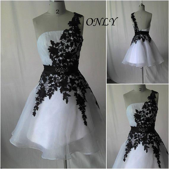 short formal dress prom dress,short dress, one shoulder Short evening dress whit