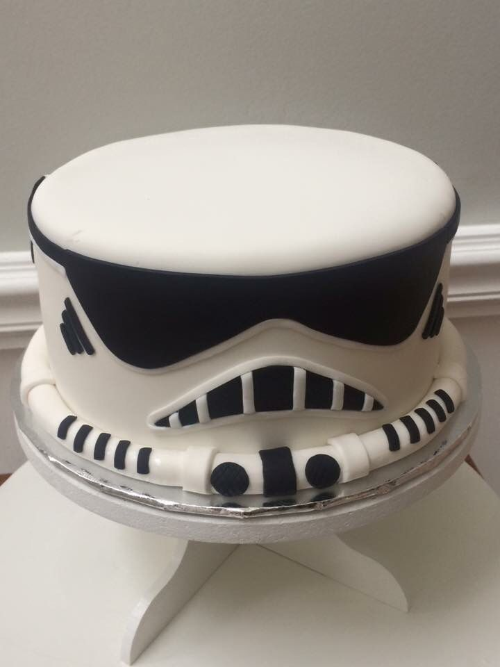 Fondant Storm Trooper Cake By Cake Grooves Cake Grooves
