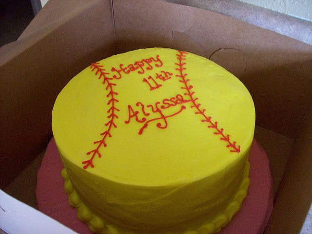 Softball Cake Decorations Or With Other Decorations To