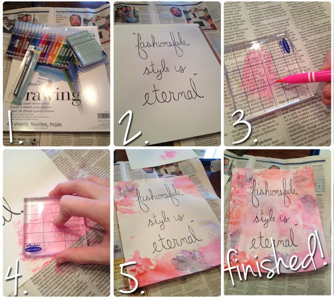 DIY Wall Art for your dorm room! This is super easy