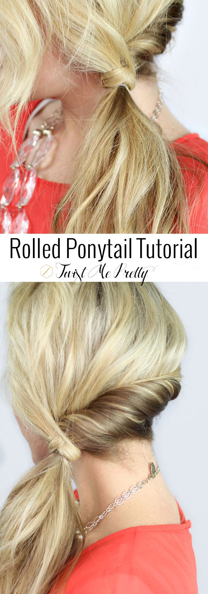 Im such a sucker for a cute ponytail!! Must learn this quick hairstyle asap | Twist Me Pretty