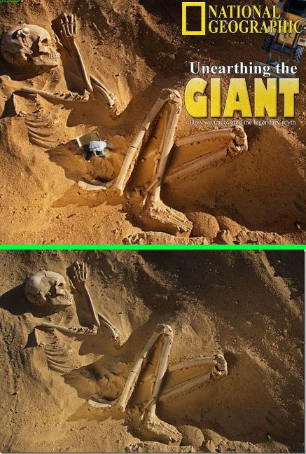 Resultado de imagen para giants skeletons hoax before and after