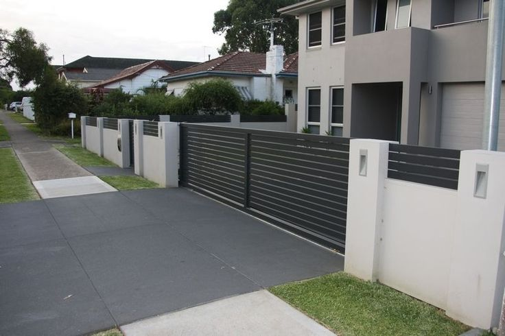 Letterboxes And Lighting Modular Walls Boundary Walls
