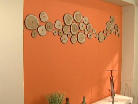 Utilisima Vdeos Pared Naranja Con Troncos Luz En