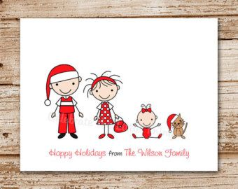 Stick Family Family Christmas Cards And Family Christmas