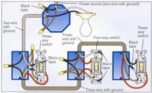 Power at Light 4Way Switch Wiring Diagram | Wiring