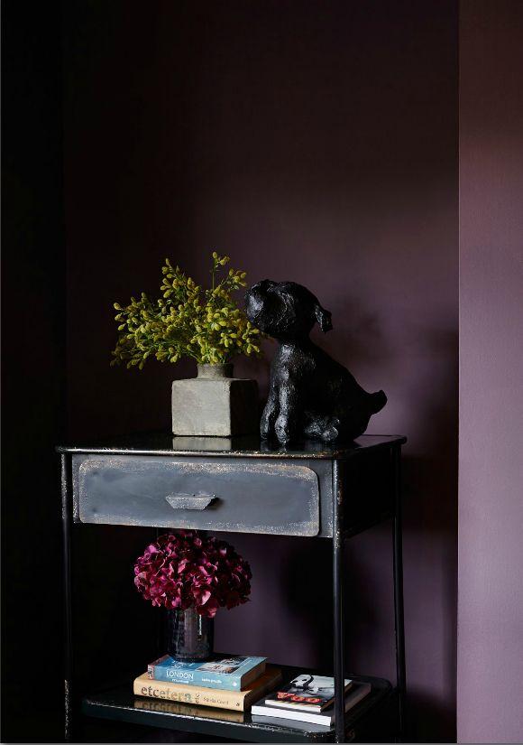 Gorgeous Dark Mulberry Purple Walls Created Using