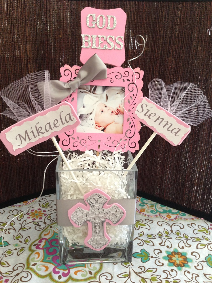 Diy So Easy And Very Inexpensive Baptism Centerpieces