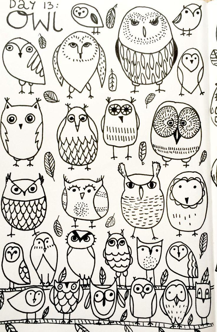 25 Best Ideas About Owl Drawings On Pinterest Owl