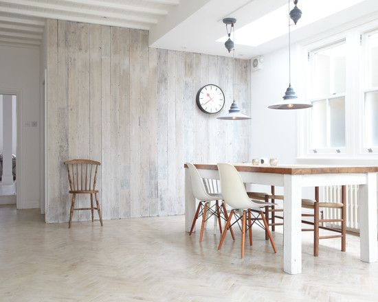 White Wood Panelled Dining Room