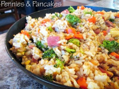 Pennies & Pancakes: Amazing Fried Rice ($0.49 per cup):