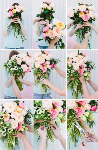 Make This: Giant DIY 'Flower Blocked' Bouquet | Gardens ...