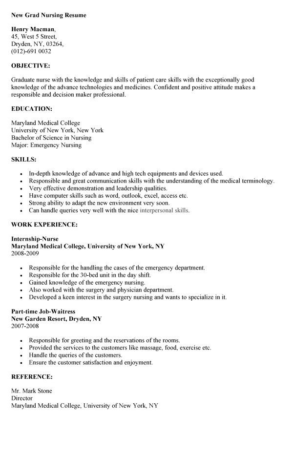 Sample Resume Nurse Fresh Graduate. Student Resume Example Sample