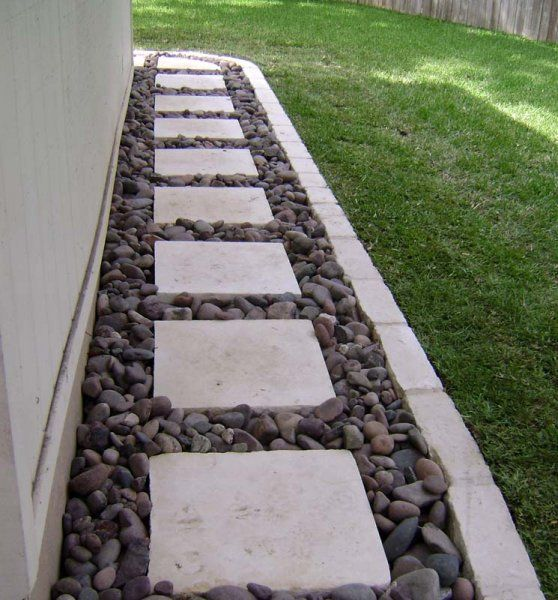 Pebbled Pathway – need to do for backyard walkway from the back and side porch
