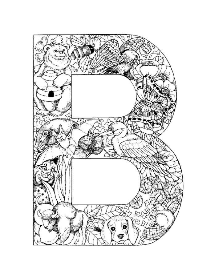letterbpictureprintable  alphabet coloring pages  b