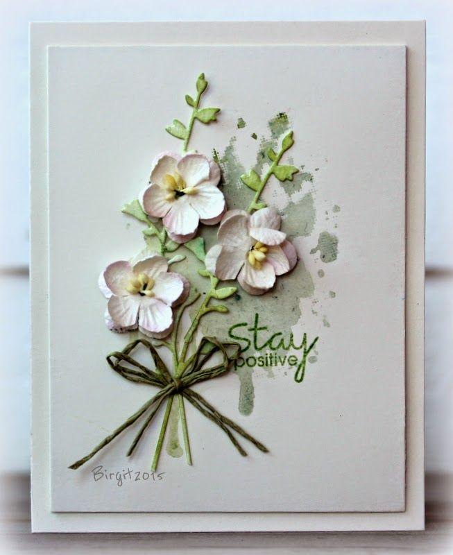 flower bunch card by Birgit