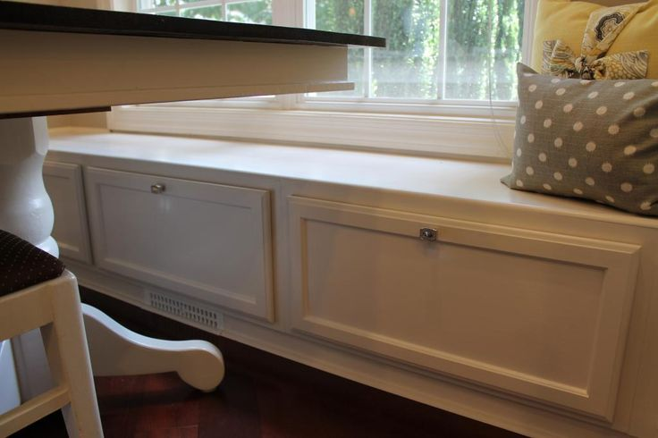 The Banquette Is Made Of Three Single Upper Cabinets